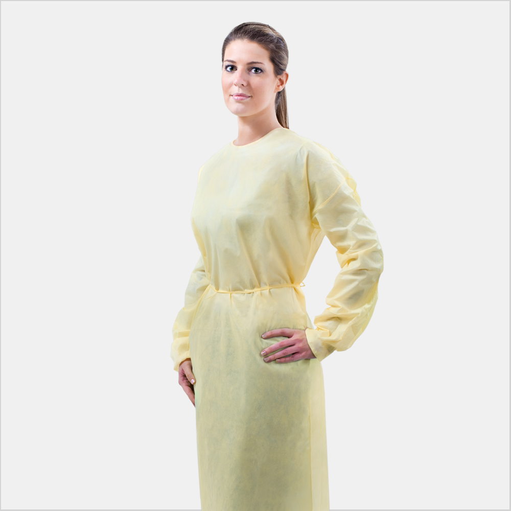 Spunbond Isolation Gown, Medical Grade, Fluid-Resistant ...
